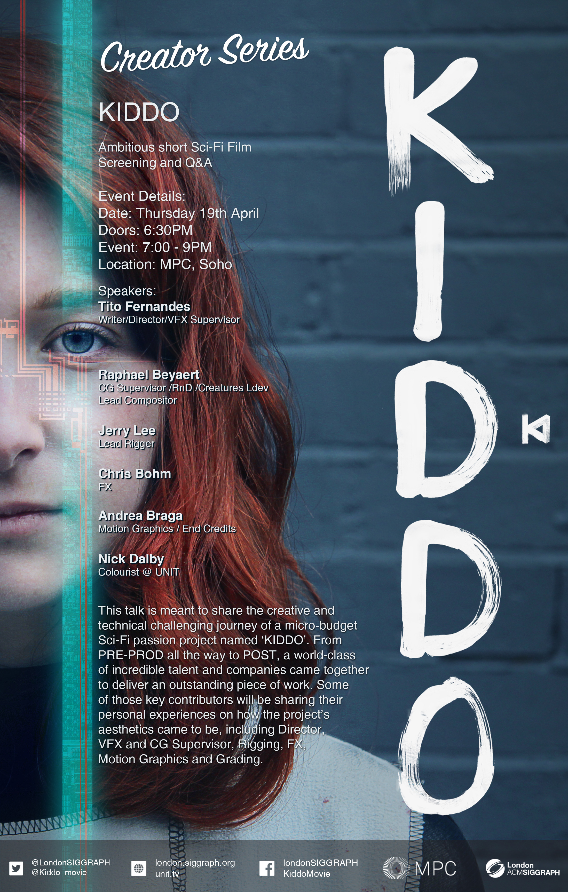 KIDDO – Short Film Screening and Q&A – Creator Series Poster