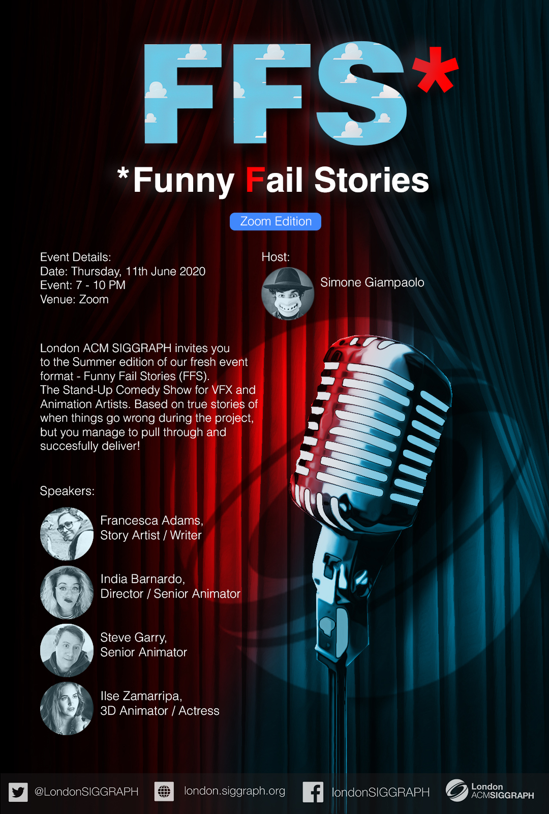 FFS* – Funny Fail Stories – Summer Zoom Edition Poster