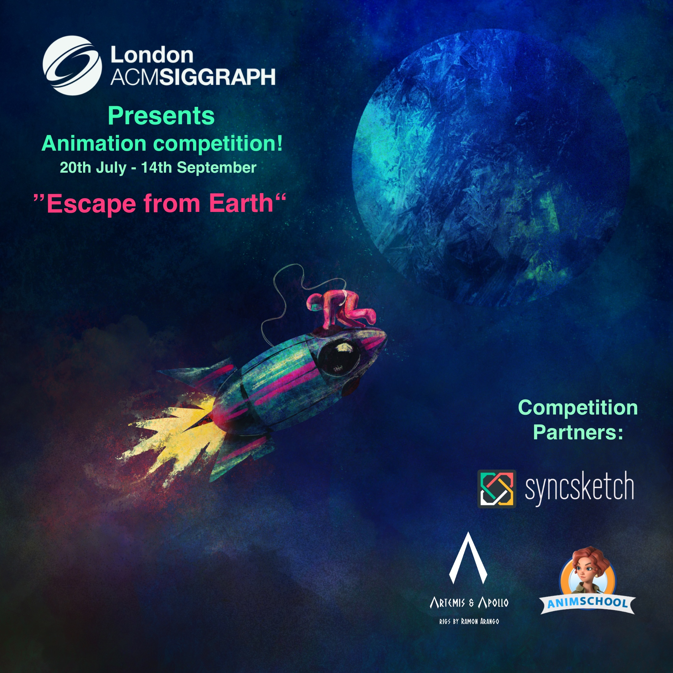 Worldwide Animation Competition – 'Escape From Earth' Poster