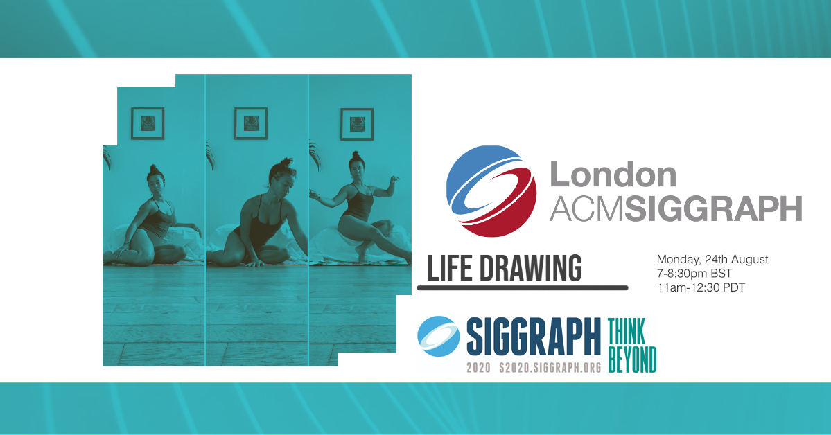 Life Drawing – Zoom Edition – August Poster