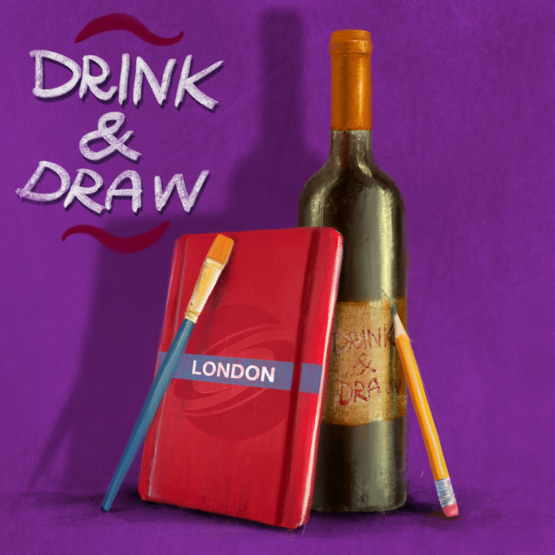 DRINK & DRAW October 2021 – ZOOM EDITION Poster