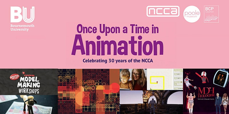 NCCA – Once Upon a Time in Animation – Workshop and Talks Programme Poster