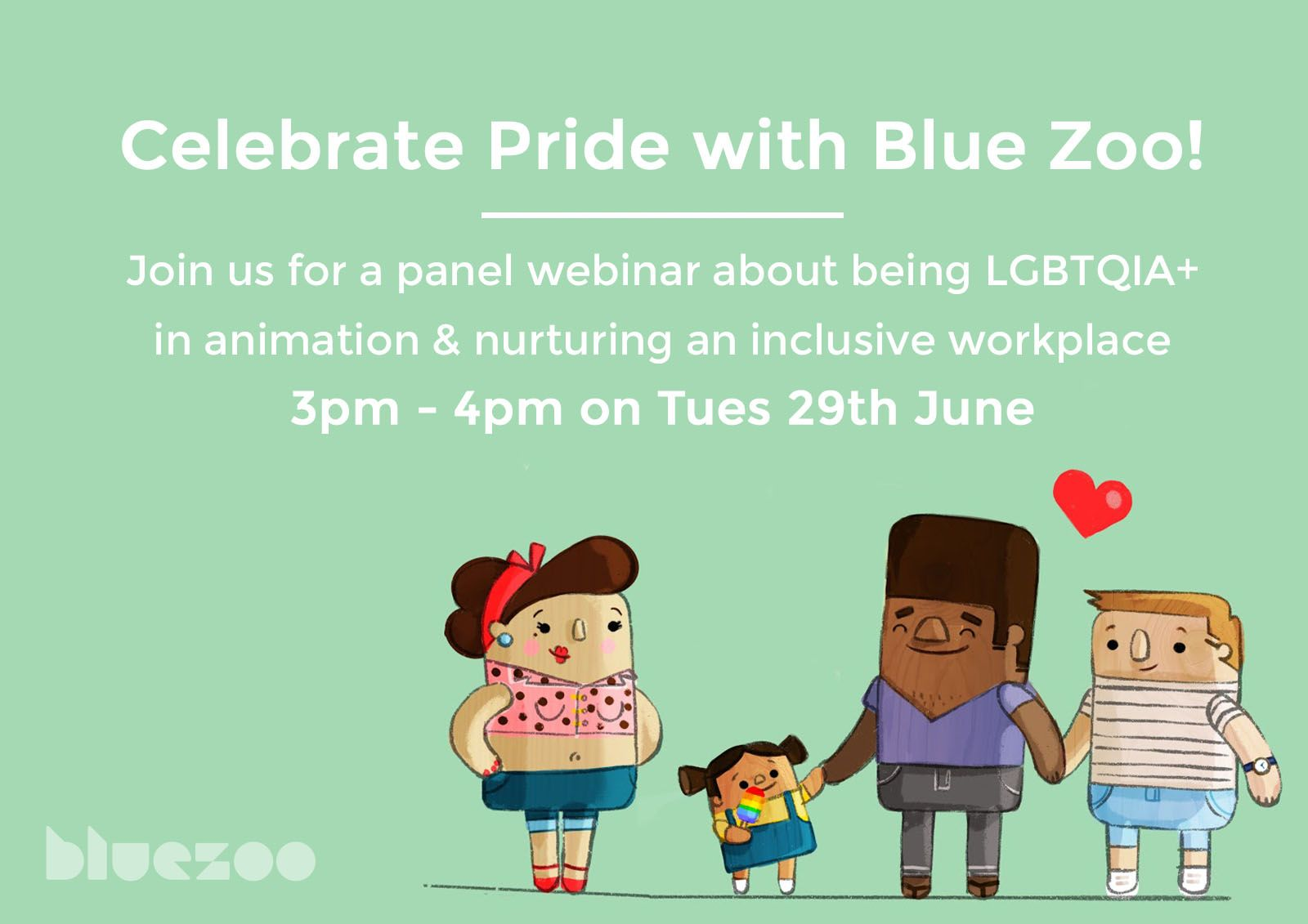 Celebrate Pride with Blue Zoo! Poster