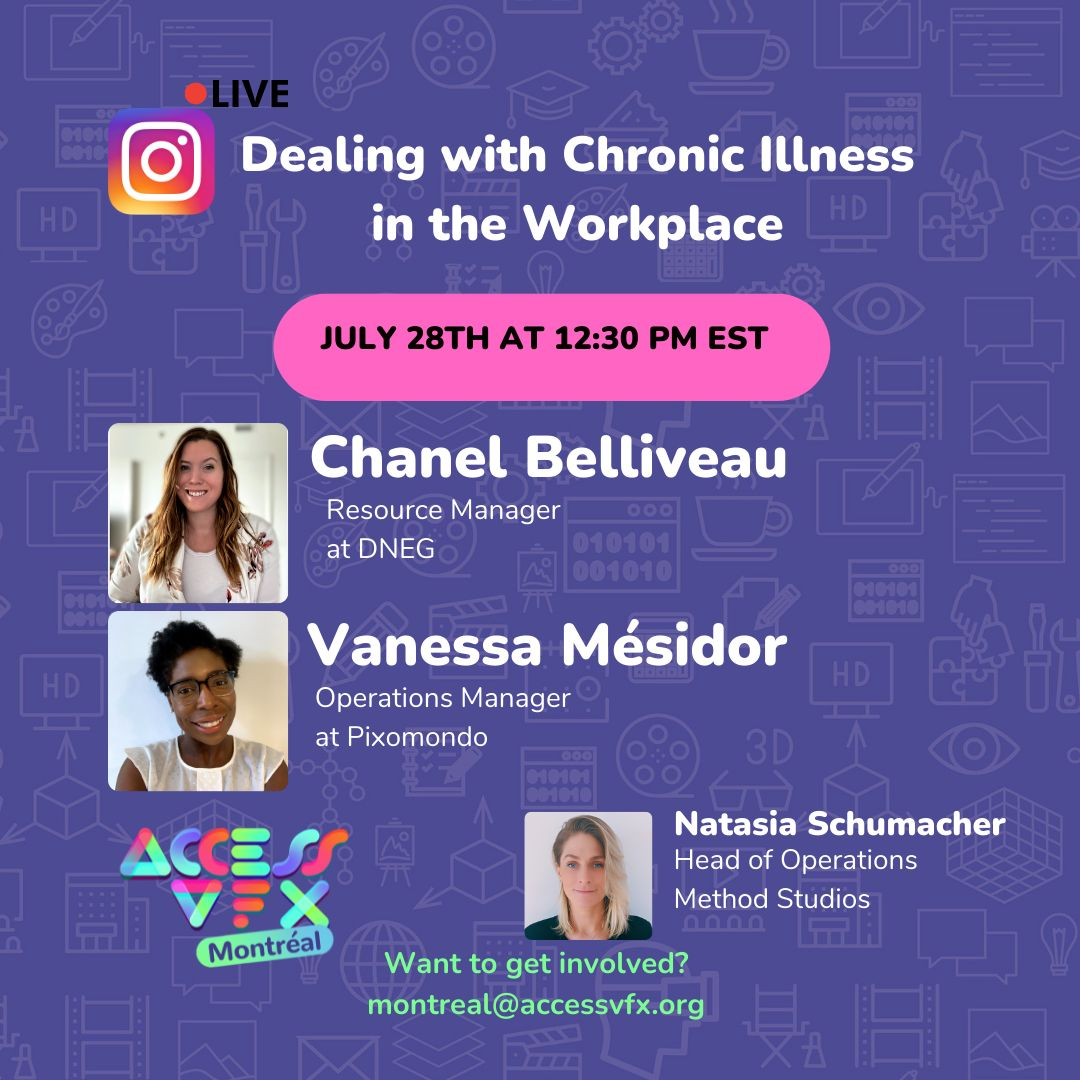 Dealing with Chronic Illness in the Workplace – ACCESSVFX Poster