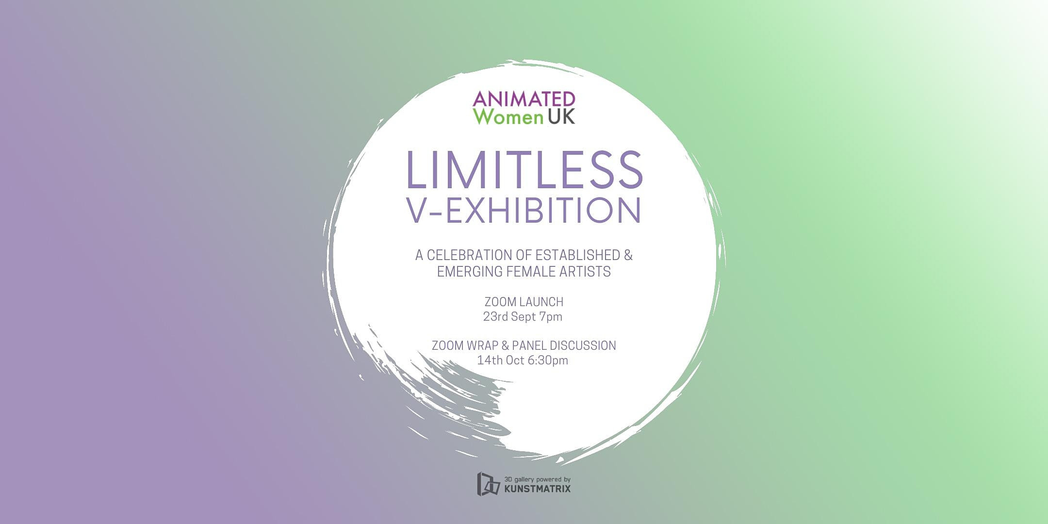 LIMITLESS: A virtual art exhibition for female artists Poster
